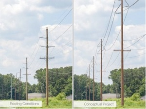 Delmarva Power Steel Utility Poles
